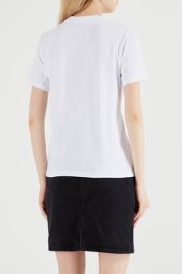 Белая футболка с мини-логотипом MSGM 296142845