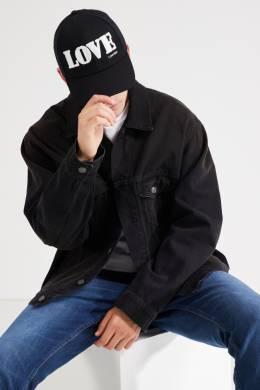 Черная бейсболка с контрастной вышивкой Calvin Klein 596143102
