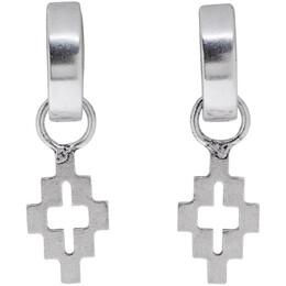Marcelo Burlon County Of Milan Silver Cross Earrings 192539F02200201GB