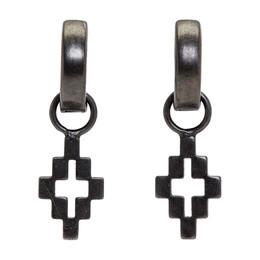 Marcelo Burlon County Of Milan Black Cross Drop Earrings 192539F02200101GB
