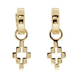 Marcelo Burlon County Of Milan Gold Cross Drop Earrings 192539F02200301GB