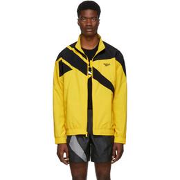 Reebok Classics Yellow and Black Vector Track Jacket 192749M18000405GB