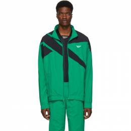 Reebok Classics Green and Black Vector Track Jacket 192749M18000605GB
