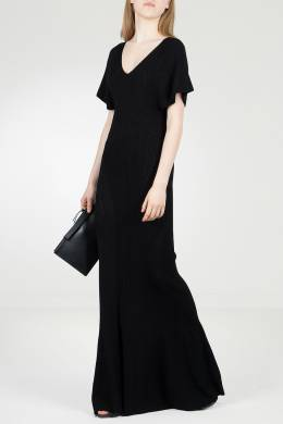 Черное трикотажное платье в пол Roberto Cavalli 314143248