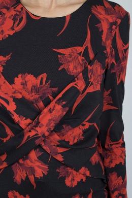 Трикотажный топ с тюльпанами Roberto Cavalli 314143263