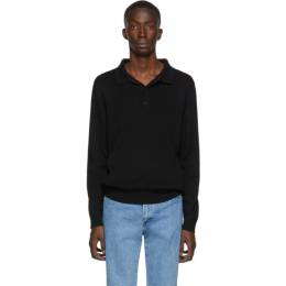 A.P.C. Black Harold Long Sleeve Polo 192252M21200302GB