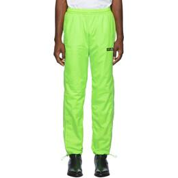 Misbhv Green Europa Track Pants 192937M19000202GB