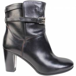 Fratelli Rossetti Black Leather Belted Ankle Boots Size 35.5 187551