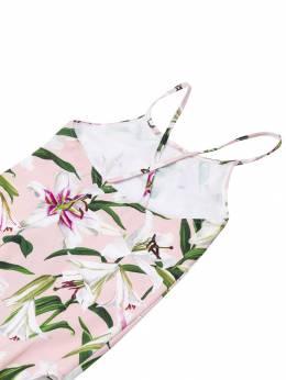 Dolce & Gabbana Kids - слитный купальник с цветочным узором 863FSGQRHFKK89536559