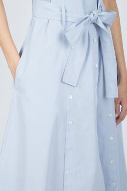 Голубое платье с декоративными застежками Eleventy 2014143577