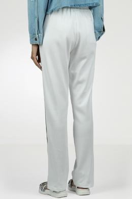 Белые брюки-джоггеры с лампасами Eleventy 2014143602