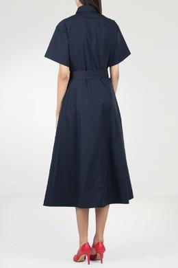 Синее платье с декоративными застежками Eleventy 2014143580