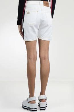 Белые джинсовые бермуды с лампасами Gcds 2981143771
