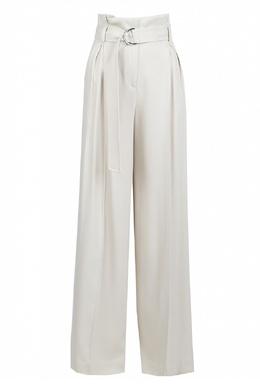 Бежевые брюки-палаццо с высокой посадкой Eleventy 2014143597