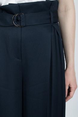 Синие брюки-палаццо с высокой посадкой Eleventy 2014143599