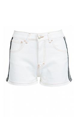 Белые джинсовые шорты с лампасами Gcds 2981143768