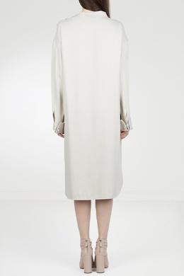 Бежевое платье с асимметричной отделкой Eleventy 2014143562
