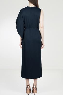 Синее платье-макси с отделкой рукава Eleventy 2014143564