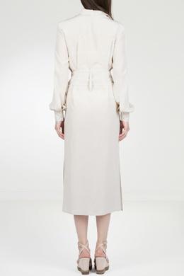 Бежевое платье-рубашка с поясом Eleventy 2014143565