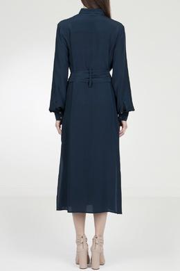 Синее платье-рубашка с поясом Eleventy 2014143566