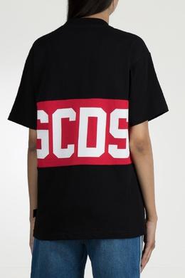 Черная футболка с контрастной отделкой Gcds 2981143741