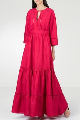 Красное платье в этническом стиле Twin-set 1506143440