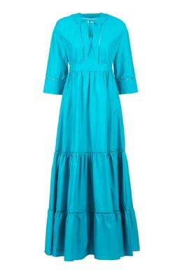 Голубое платье в пол Twin-set 1506143439