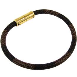 Louis Vuitton Damier Ebene Canvas Keep It Bracelet 19CM 212053