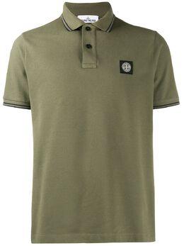 Stone Island рубашка-поло с нашивкой-логотипом MO711522S18