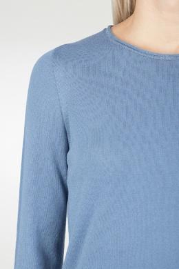 Голубой джемпер с необработанными краями Peserico 1501143555