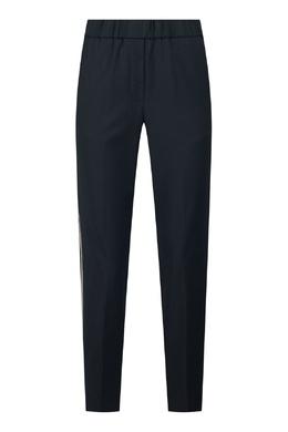 Черные брюки с двойными лампасами Peserico 1501143610