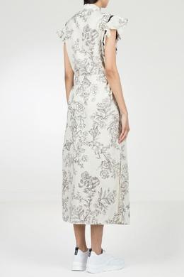 Белое платье с принтом Twin-set 1506143426