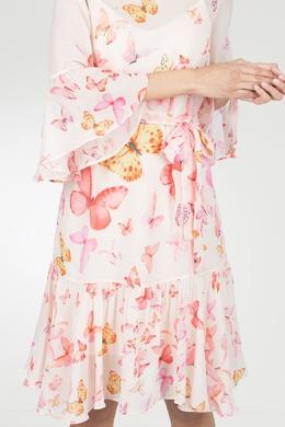 Летнее розовое платье Twin-set 1506143432