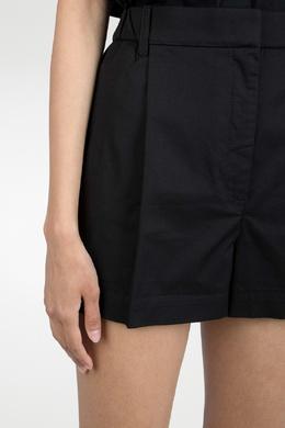 Черные шорты с защипами No. 21 35143922