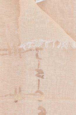 Розовый палантин с отделкой Peserico 1501143642