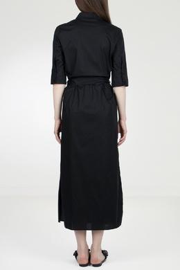 Черное платье-рубашка Twin-set 1506143422