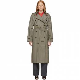Rokh Beige Classic Double-Breasted Trench Coat 192151F06700202GB