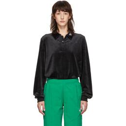 Reebok Classics Black Velour CL V Zip Sweater 192749F09700102GB