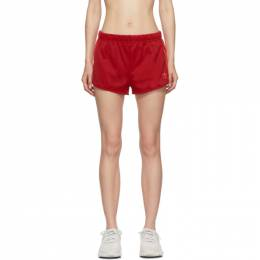 Adidas Originals Red 3-Stripe Shorts 192751F08800101GB
