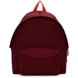 Raf Simons Burgundy Eastpak Edition Padded Loop Backpack 192287F04200401GB