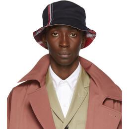 Thom Browne Navy Funmix Bucket Hat 192381M14000203GB