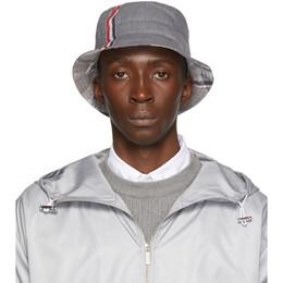 Thom Browne Grey Funmix Bucket Hat 192381M14000103GB