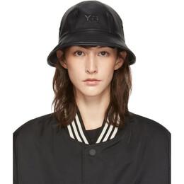 Y-3 Reversible Black Logo Bucket Hat 192138F01500201GB