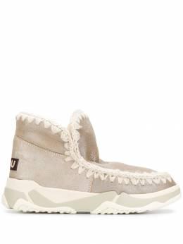 Mou ботинки с вязаной окантовкой MUFW201000B