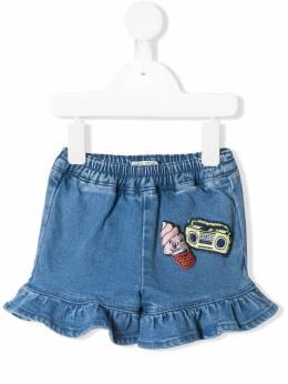 Kenzo Kids - джинсовые шорты с отделкой 6693B933903650000000
