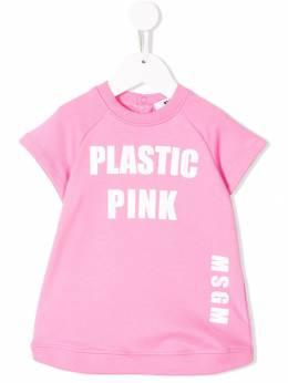 Msgm Kids - футболка 'Plastic Pink' 99593595663000000000