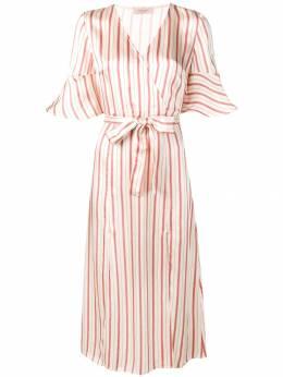 Twin-Set - атласное платье в полоску TP055993965998000000