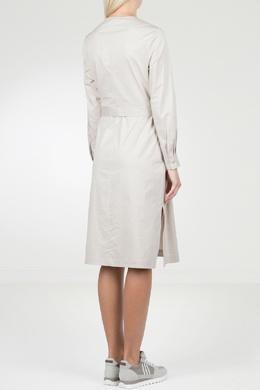 Бежевое платье с боковыми разрезами Peserico 1501143488