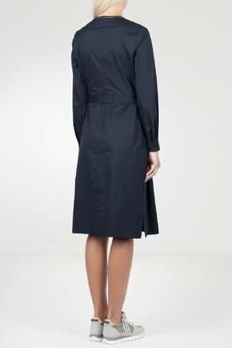 Синее платье с боковыми разрезами Peserico 1501143489