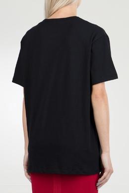 Черная футболка с мини-логотипом No. 21 35143903